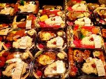 De Japanse lunchen van de obentosdoos Stock Foto's