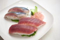 De Japanse Plaat van Sushi Stock Foto