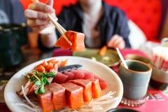 De Japanse reeks van de voedselsashimi Stock Fotografie