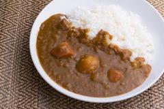 De Japanse rijst van de voedselkerrie Royalty-vrije Stock Foto's