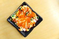 De Japanse rijstmaaltijd neemt Stock Afbeelding