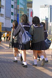 De Japanse schoolmeisjes groeperen zich royalty-vrije stock foto