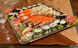 De Japanse schotel van Sushi Stock Fotografie