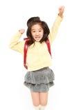 De Japanse sprongen van het Schoolmeisje Royalty-vrije Stock Foto's