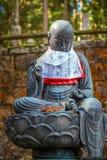 De Japanse Standbeelden van Boedha (Jizo Bodhisattva) in Koyasan (MT Koya) gebied Stock Afbeelding