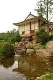 De Japanse stijlbouw Stock Afbeeldingen