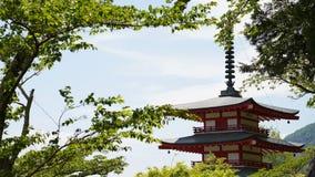 de Japanse stijltempel royalty-vrije stock afbeelding