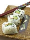 De Japanse sushi, sluiten omhoog mening Stock Foto