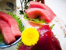 De Japanse tonijn van de voedselsashimi Stock Fotografie