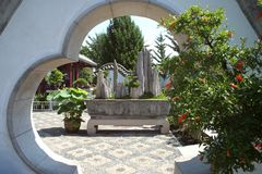 De Japanse Tuin van de Bonsai royalty-vrije stock fotografie