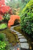 De Japanse tuin van de herfst Royalty-vrije Stock Foto's