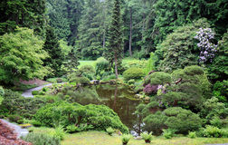 De Japanse Tuin van de Stijl stock afbeeldingen