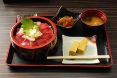 De Japanse Vastgestelde Maaltijd van het Voedsel Stock Afbeelding