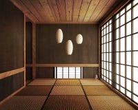 De Japanse vertoningszaal en bevloering van de tatamimat 3d geef terug royalty-vrije illustratie