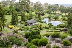 De japanska trädgårdarna Royaltyfri Fotografi