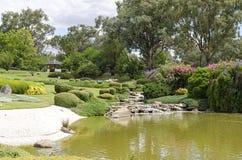 De japanska trädgårdarna Fotografering för Bildbyråer