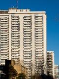 de jaren '80 flatgebouwen Stock Fotografie