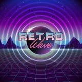 de jaren '80 Retro Achtergrond sc.i-FI met Kleurrijke Gevolgen vector illustratie
