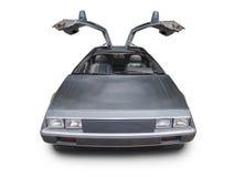 de jaren '80sportwagen op wit Stock Fotografie