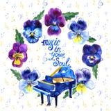 De Jazz van het de zomeroverleg en van de Blauwmuziek festival Affiche achtergrondmalplaatje Royalty-vrije Stock Foto