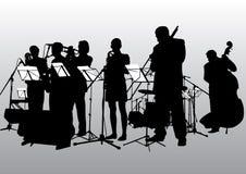 De jazzband van de muziek Stock Foto's