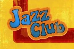 De jazzclub van de inschrijving Stock Afbeeldingen