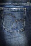 De jeans steunen zak Stock Afbeeldingen