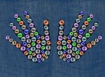 De jeans van de fantasie Royalty-vrije Stock Afbeeldingen