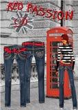 De jeans van de hartstocht Stock Foto