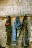 De jeans van Grunge Stock Foto's