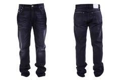 De jeans van mensen op wit worden geïsoleerd dat royalty-vrije stock foto