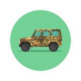 De jeep van het autopictogram vector illustratie