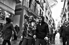 De jeugd in de straat Stock Afbeelding