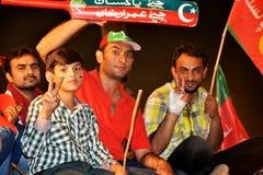"""De jeugd en de jonge geitjes van PTI in Raiwind Maart †""""30 September 2016 Royalty-vrije Stock Foto"""