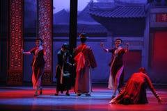 De jeune marié de robe-Le à l'acte d'abord des événements de drame-Shawan de danse du passé Photos libres de droits