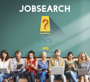 ` De Job Search Occupation Recruitment We au sujet de concept de location photo libre de droits