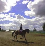 De jockey op een paard Stock Afbeelding