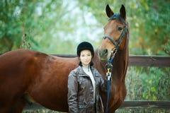 De jockey van de vrouw stock foto