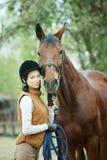 De jockey van de vrouw royalty-vrije stock afbeelding