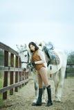 De jockey van de vrouw royalty-vrije stock foto's