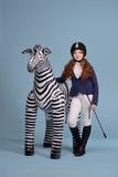 De jockeydromen van het roodharigemeisje van paarden Royalty-vrije Stock Afbeelding