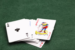 De Joker in het Pak stock fotografie