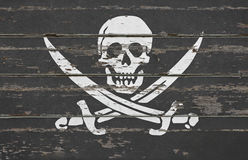 ` de Jolly Roger do ` do sinal da bandeira de pirata Foto de Stock