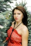 De jonge aantrekkelijke brunette van het portret stock afbeeldingen