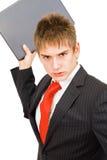 De jonge boze zakenman Stock Foto