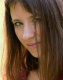 De jonge brunette Stock Afbeelding