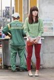 De jonge Chinese vrouw van Waitiing Royalty-vrije Stock Foto's