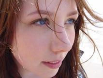 De jonge Close-up van de Vrouw stock afbeeldingen