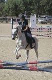 De jonge concurrentie van het ruiters lokale paard in Mallorca Royalty-vrije Stock Foto