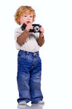 De jonge fotograaf Stock Foto's